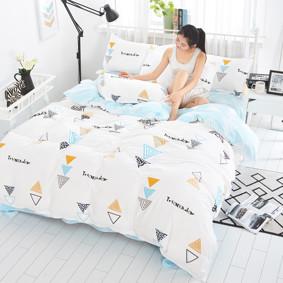 Уценка (дефекты)! Комплект постельного белья Треугольник (двуспальный-евро) (код товара: 46038): купить в Berni