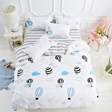 Уценка (дефекты)! Комплект постельного белья Воздушные шары в небе (двуспальный-евро) (код товара: 46041)