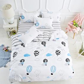 Уценка (дефекты)! Комплект постельного белья Воздушные шары в небе (двуспальный-евро) (код товара: 46041): купить в Berni