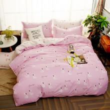 Комплект постельного белья Плывущие фламинго (двуспальный-евро) оптом (код товара: 46183)