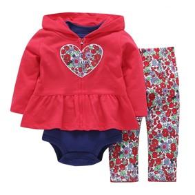 Комплект для девочки 3 в 1 Цветочное сердце (код товара: 46227): купить в Berni