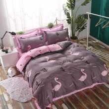 Комплект постельного белья Фламинго (двуспальный-евро) (код товара: 46286)
