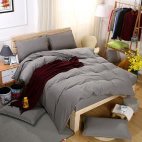 Комплект постельного белья Серый (двуспальный-евро) (код товара: 46280): купить в Berni