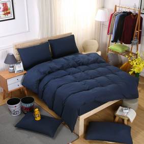 Комплект постельного белья Темно - синий (двуспальный-евро) (код товара: 46278): купить в Berni