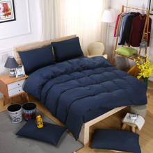 Комплект постельного белья Темно - синий (двуспальный-евро) оптом (код товара: 46278)