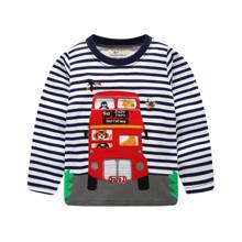 Лонгслів для хлопчика Автобус оптом (код товара: 46270)