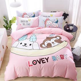 Уценка (дефекты)! Комплект постельного белья Любимый ребенок (двуспальный-евро) (код товара: 46257): купить в Berni