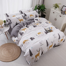 Уценка (дефекты)! Комплект постельного белья Олень (двуспальный-евро) (код товара: 46234)