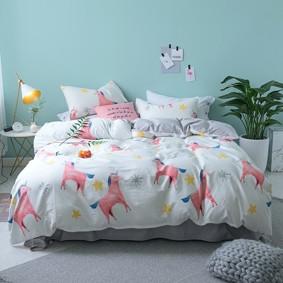 Уценка (дефекты)! Комплект постельного белья Розовые единороги (двуспальный-евро) (код товара: 46228): купить в Berni