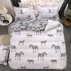 Уценка (дефекты)! Комплект постельного белья Zebra (полуторный) оптом (код товара: 46232): купить в Berni