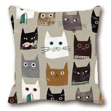 Подушка декоративна Кішки 45 х 45 см (код товара: 46393)
