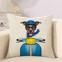 Подушка декоративна Пес на мопеді 45 х 45 см (код товара: 46388)