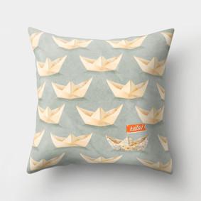 Подушка декоративная Бумажные кораблики 45 х 45 см (код товара: 46374): купить в Berni