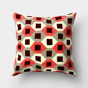 Подушка декоративная Черные квадраты 45 х 45 см (код товара: 46381): купить в Berni