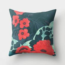 Подушка декоративная Красные цветы 45 х 45 см оптом (код товара: 46397)