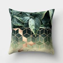 Подушка декоративная Кубы и листья 45 х 45 см (код товара: 46350)