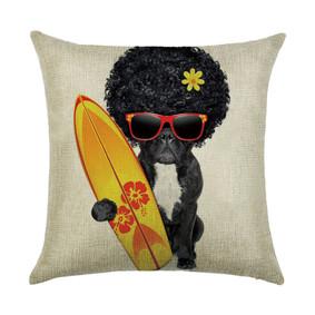 Подушка декоративная Пес - серфер 45 х 45 см (код товара: 46389): купить в Berni
