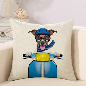 Подушка декоративная Пес на мопеде 45 х 45 см (код товара: 46388): купить в Berni