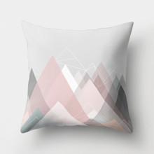 Подушка декоративная Розовые горы 45 х 45 см оптом (код товара: 46361)