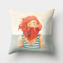Подушка декоративная Рыжий моряк 45 х 45 см оптом (код товара: 46375)