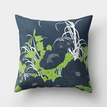 Подушка декоративная Темные цветы 45 х 45 см (код товара: 46399)