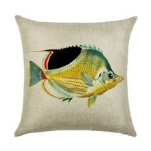 Подушка декоративная Желтая рыбка 45 х 45 см оптом (код товара: 46390)