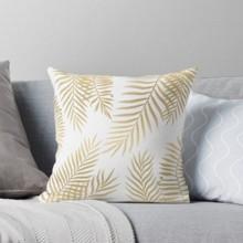 Подушка декоративная Золотые листья 45 х 45 см оптом (код товара: 46365)