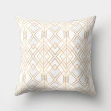 Подушка декоративная Золотые ромбы 45 х 45 см (код товара: 46354)