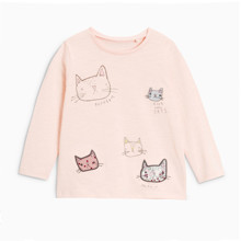 Лонгслив для девочки Кошки оптом (код товара: 46447)