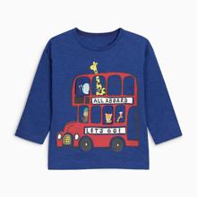 Лонгслів для хлопчика Автобус оптом (код товара: 46470)