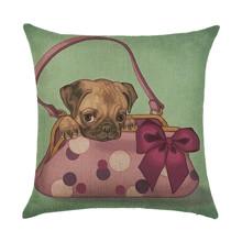 Подушка декоративна Цуцик у сумочці 45 х 45 см оптом (код товара: 46420)