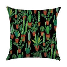 Подушка декоративна Кактуси 45 х 45 см оптом (код товара: 46436)