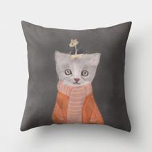Подушка декоративна Кішка та мишка 45 х 45 см оптом (код товара: 46401)