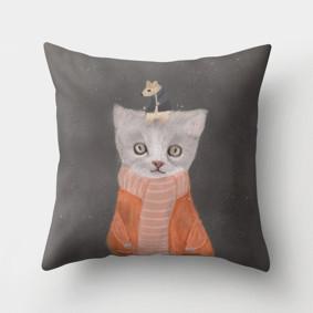Подушка декоративная Кошка и мышка 45 х 45 см (код товара: 46401): купить в Berni
