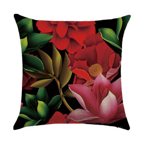 Подушка декоративная Красные цветы 45 х 45 см (код товара: 46437): купить в Berni