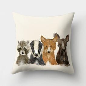 Подушка декоративная Лесные животные 45 х 45 см (код товара: 46402): купить в Berni