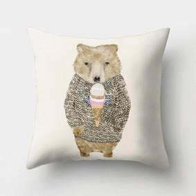 Подушка декоративная Люблю мороженое 45 х 45 см (код товара: 46403): купить в Berni