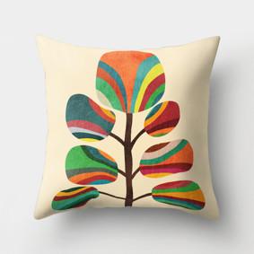 Подушка декоративная Радужное дерево 45 х 45 см (код товара: 46428): купить в Berni