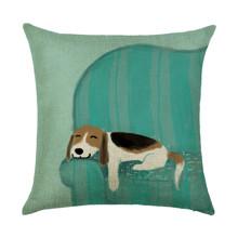 Подушка декоративная Спящий пес 45 х 45 см (код товара: 46424)