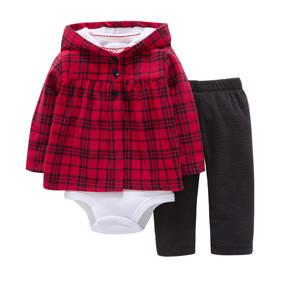 Комплект для девочки 3 в 1 Клеточка (код товара: 46571): купить в Berni