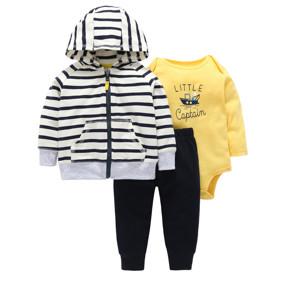 Комплект для мальчика 3 в 1 Маленький капитан (код товара: 46580): купить в Berni