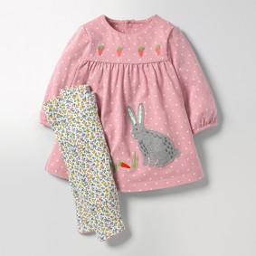 Костюм 2 в 1 для девочки Зайка оптом (код товара: 46508): купить в Berni