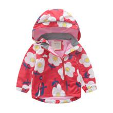 Куртка для девочки демисезонная Ромашки оптом (код товара: 46563)