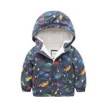 Куртка для мальчика зимняя Гоночные машинки (код товара: 46560)