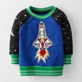 Толстовка на флисе для мальчика Ракета (код товара: 46503): купить в Berni