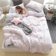 Уценка (дефекты)! Комплект постельного белья Банты (двуспальный-евро) (код товара: 46519)