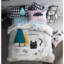 Уценка (дефекты)! Комплект постельного белья Кошачья прогулка (двуспальный-евро) (код товара: 46547)