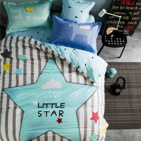 Уценка (дефекты)! Комплект постельного белья Маленькая звезда (полуторный) (код товара: 46546): купить в Berni