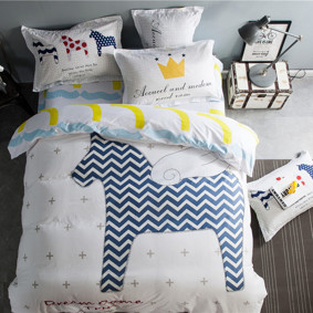 Уценка (дефекты)! Комплект постельного белья Мечта пегаса (двуспальный-евро) (код товара: 46545): купить в Berni