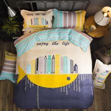 Уценка (дефекты)! Комплект постельного белья Мегаполис (двуспальный-евро) (код товара: 46535)